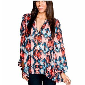 Show Me Your MuMu Pink and Blue Tunic